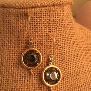 Spartina faceted gem earrings